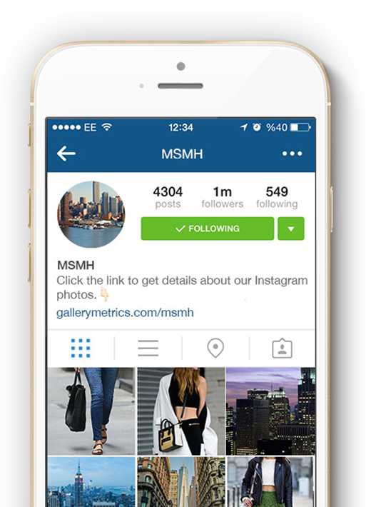Gallery Metrics on Mobile